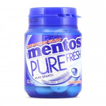 MENTOS PURE FRESH CHEWING GUM 57.75G, 1S (STRONG MINT FLAVOUR)