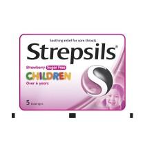 STREPSILS CHILDREN SUGAR FREE STRAWBERRY 5S