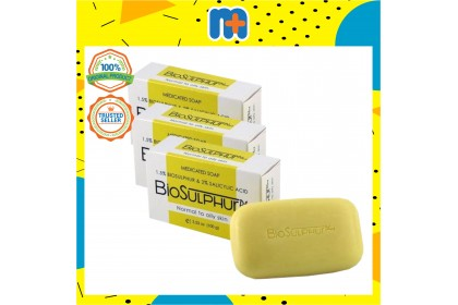 [MPLUS] BIOSULPHUR Plus Medicated Soap 3x100g