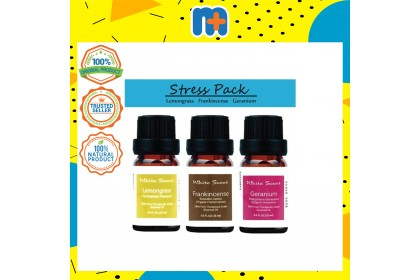 [MPLUS] WHITE SCENT Stress 5ml Essential Oil Gift Set