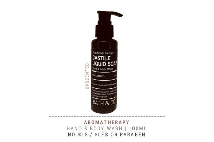 [MPLUS] BATH & CO Castile Liquid Soap Unscented 100ml