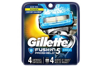GILLETTE FUSION PROGLIDE CHILL CART 4S
