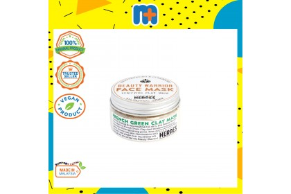[MPLUS] HANDMADE HEROES Beauty Warrior Face Mask - French Green Clay 55G