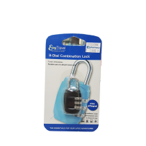 EASY TRAVEL 3-DIAL COMBINATION SHACKLE LOCKS