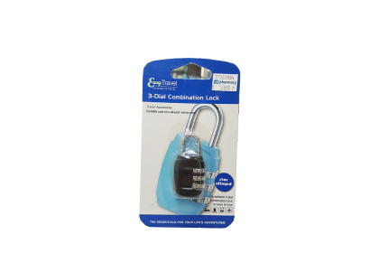 [MPLUS] Easy Travel 3-Dial Combination Shackle Locks