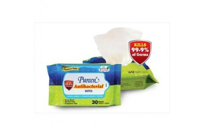 PUREEN ANTIBACTERIAL WIPES 2X30S