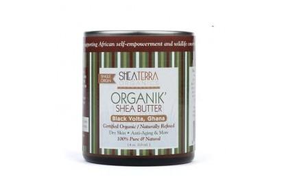 [MPLUS] SHEA TERRA ORGANICS Organik Shea Butter 4oz 118ml