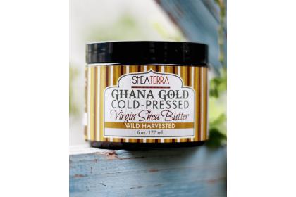 [MPLUS] SHEA TERRA ORGANICS Ghana Gold Shea Butter 6oz 117ml