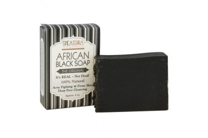 [MPLUS] SHEA TERRA ORGANICS Authentic African Black Soap 4oz