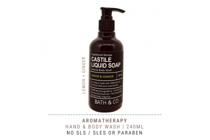 [MPLUS] BATH & CO Castile Liquid Soap 240Ml Lemon Ginger