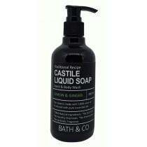 BATH & CO CASTILE LIQ SOAP 240ML LEMON GINGER