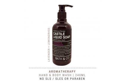 [MPLUS] BATH & CO Castile Liquid Soap Lavender Lemongrass 240ml