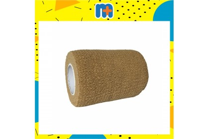 [MPLUS] MEDIC BANDAGE BROWN STRETCHED (F) 10CM X 4.5M