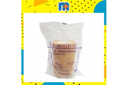 [MPLUS] Unigloves Self-Ad Elastic Bandage (Brown- 7.5Cmx4.5M)