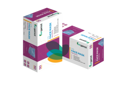 BERGAMOT FACE MASK EARLOOP - 3 PLY (BLUE) BOX 50'S