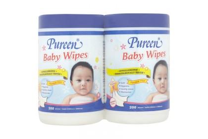 PUREEN BABY WIPES 2X200 [TWIN JAR]