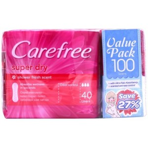 CAREFREE SUPER DRY SCENTED [PINK] 40SX2 FOC 20S