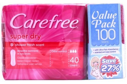 [MPLUS] CAREFREE SUPER DRY SCENTED [PINK] 40SX2 FOC 20S