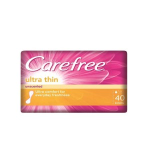 CAREFREE ULTRA THIN UNSCENTED [PINK] 40S
