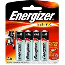 ENERGIZER MAX BATTERY AA 4S