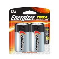 ENERGIZER MAX BATTERY TYPE D 2S