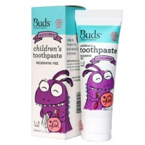 BUDS CHILDREN'S TOOTH PASTE W/FLOURIDE 50G - BLACKCURRENT