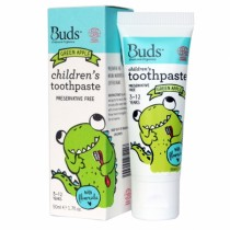 BUDS CHILDREN'S T/PASTE W/FLOURIDE 50G - GREEN APPLE