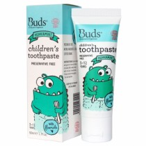 BUDS CHILDREN'S T/PASTE W/FLOURIDE 50G- PEPPERMINT