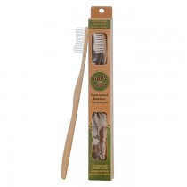BRUSH WITH BAMBOO TOOTHBRUSH ADULT 1S