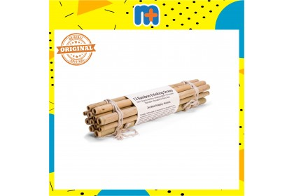 [MPLUS] Brush With Bamboo Drinking Straws 12S