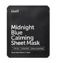KLAIRS MIDNIGHT BLUE CALMING SHEET MASK 5'S