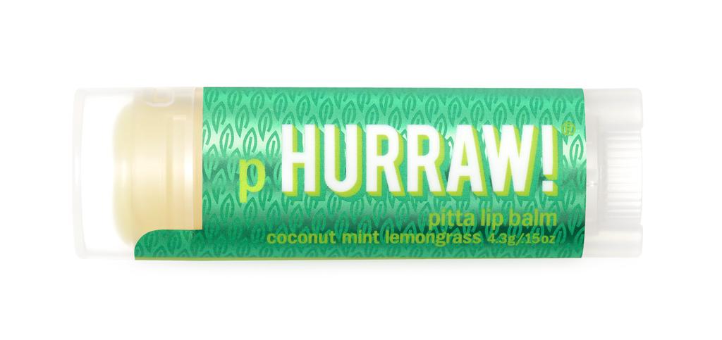 [MPLUS] HURRAW Pitta Coconut Mint Lemongrass Lip Balm 4.8g