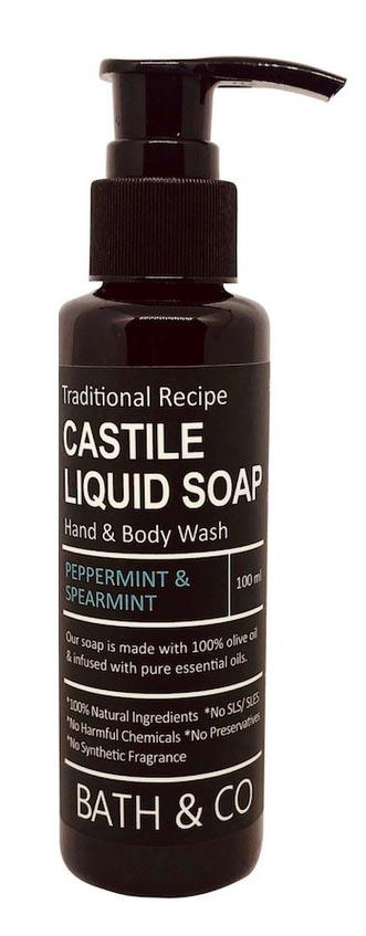 [MPLUS] BATH & CO Castile Liquid Soap Peppermint + Spearmint 100ml