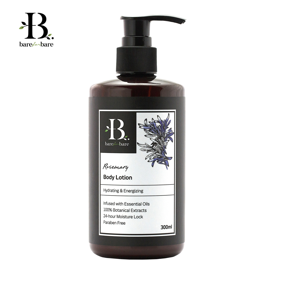 [MPLUS] Bare For Bare Body Lotion Rosemary 300Ml