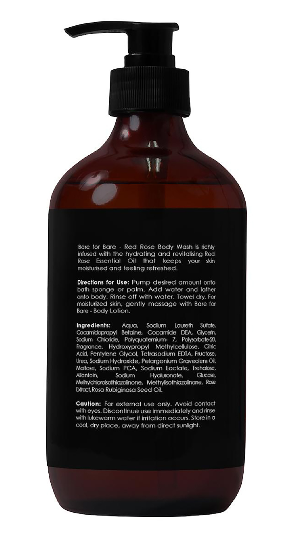 [MPLUS] Bare For Bare Body Wash Red Rose 500Ml