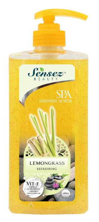 [MPLUS] Sensez Beauty Spa Shower Scrub-Lemongrass 680Ml