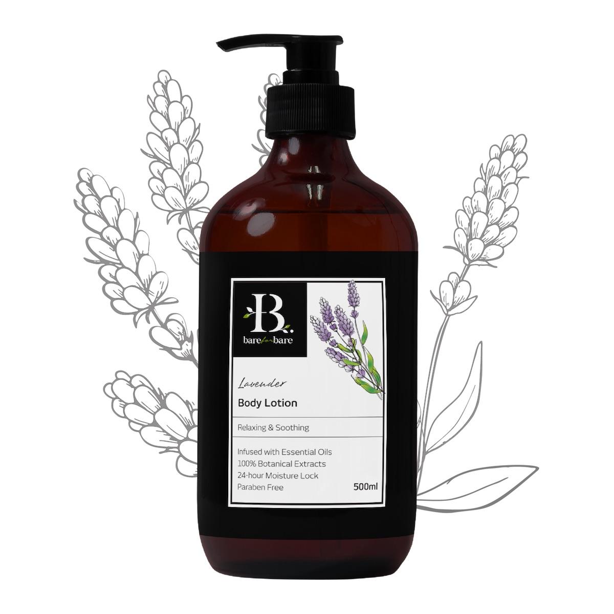 [MPLUS] BARE FOR BARE Body Lotion Lavender 500ml