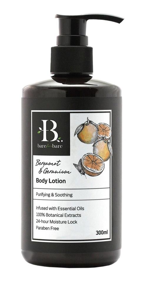 [MPLUS] Bare For Bare Body Lotion Bergamot & Geranium 300Ml