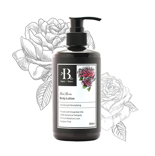 [MPLUS] BARE FOR BARE Body Lotion Red Rose 500ml