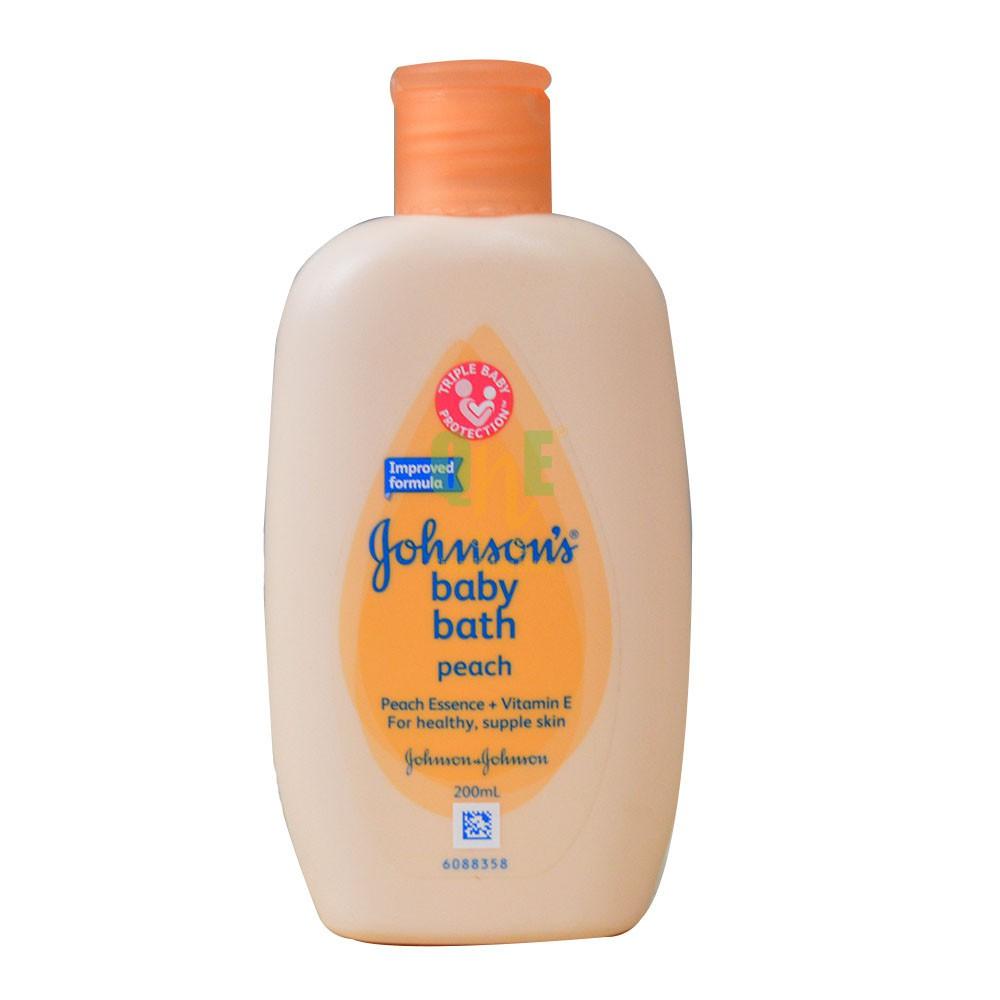 [MPLUS] Johnson Baby Bath Peach Fresh 200Ml