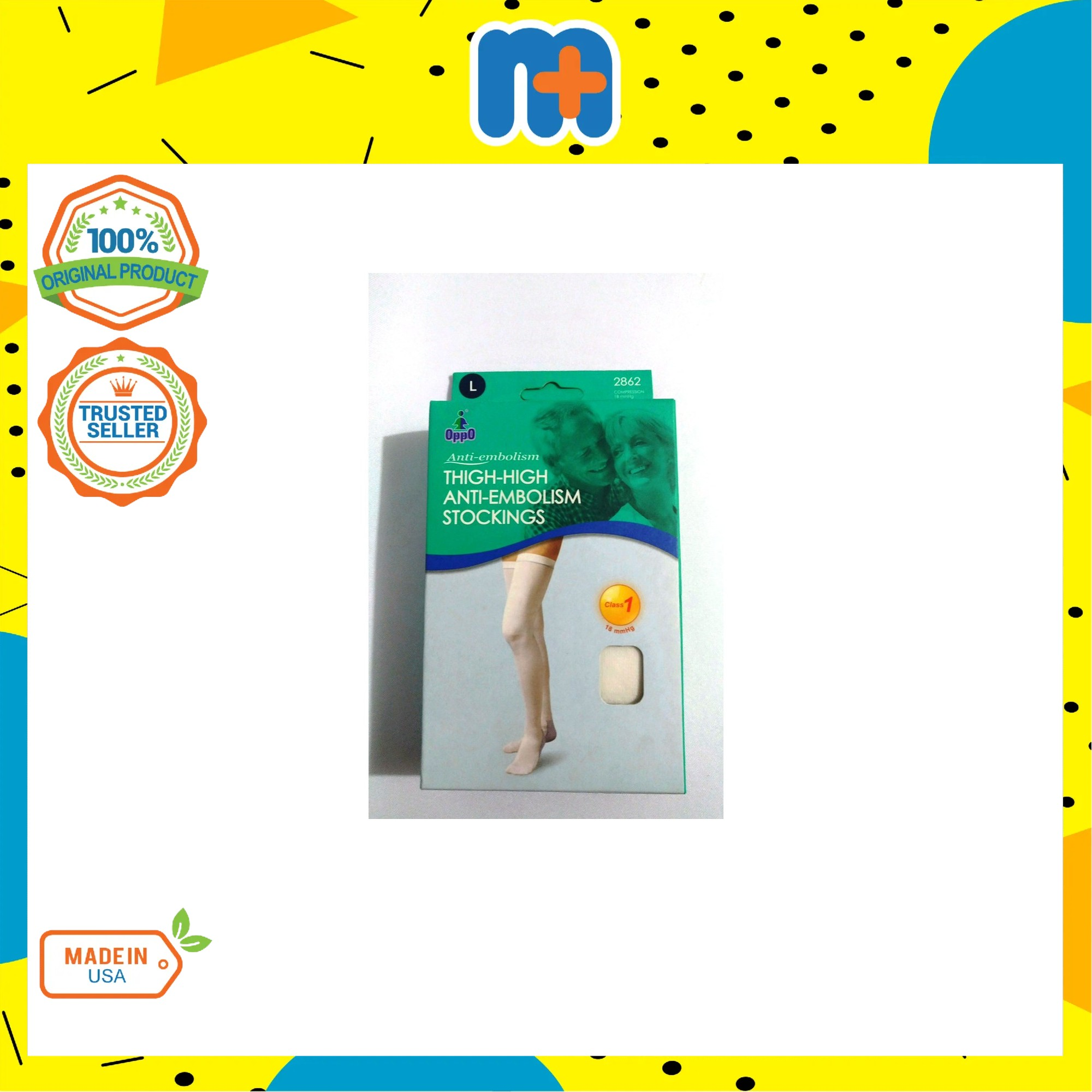 [MPLUS] OPPO Thigh-High Anti-Embolism Stockings L Size 2862