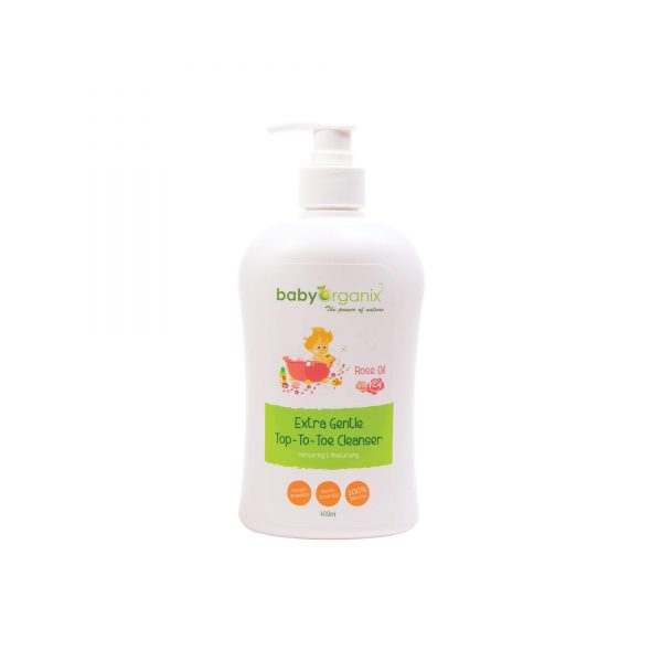 [MPLUS] Baby Organix Top To Toe Cleanser Rose Oil 400Ml
