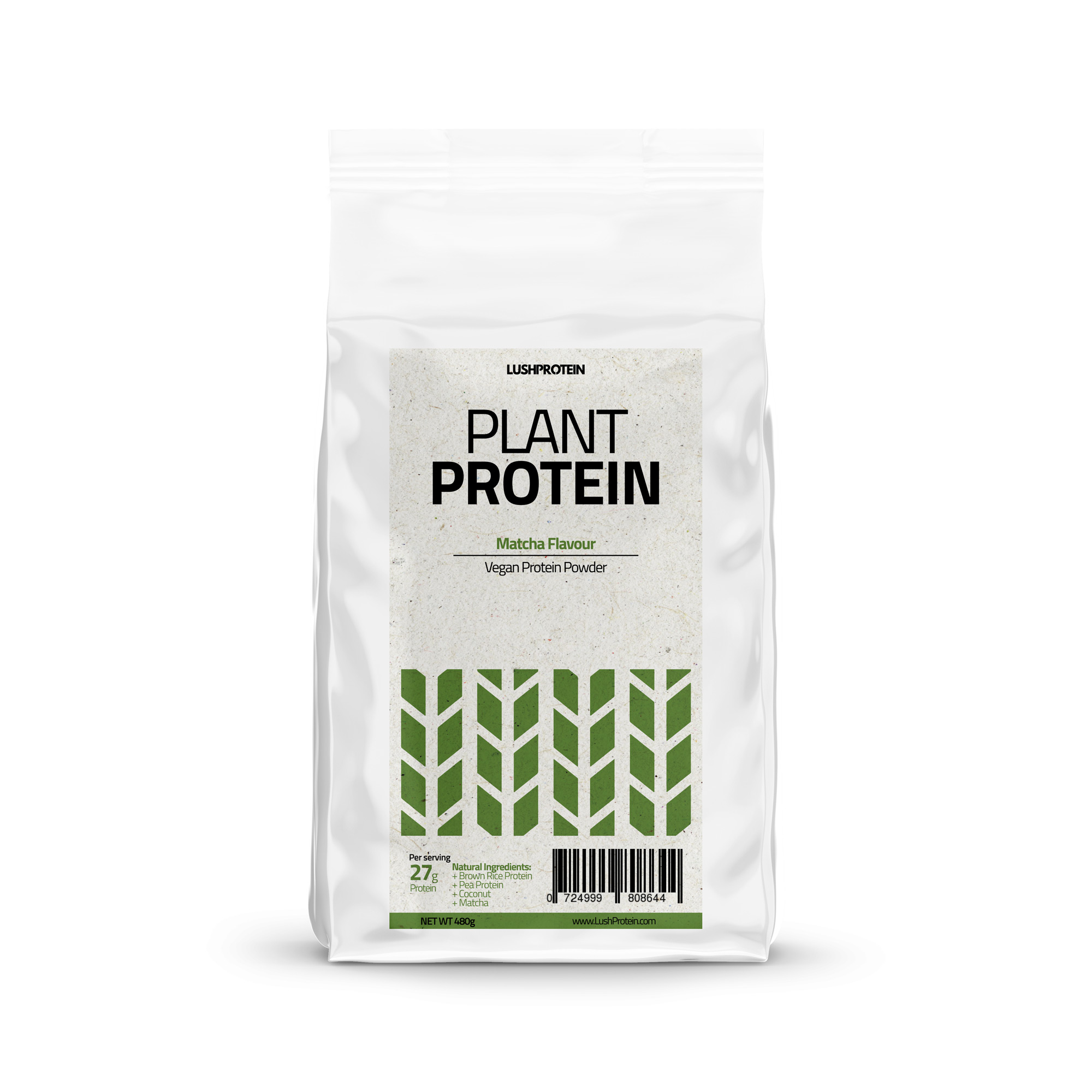 [MPLUS] Lushprotein Plant Protein (Pouch) Matcha 480G