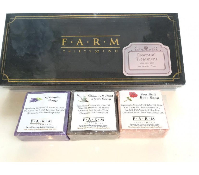 [MPLUS] Farm32 Essential Treatment Handmade Soap (3 Pcs)