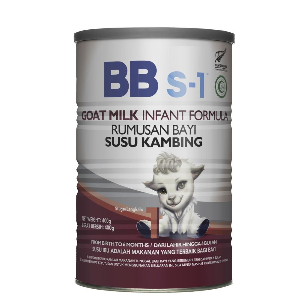 [MPLUS] Bbs-1 Goat Milk Infant Formula Stage 1 400G