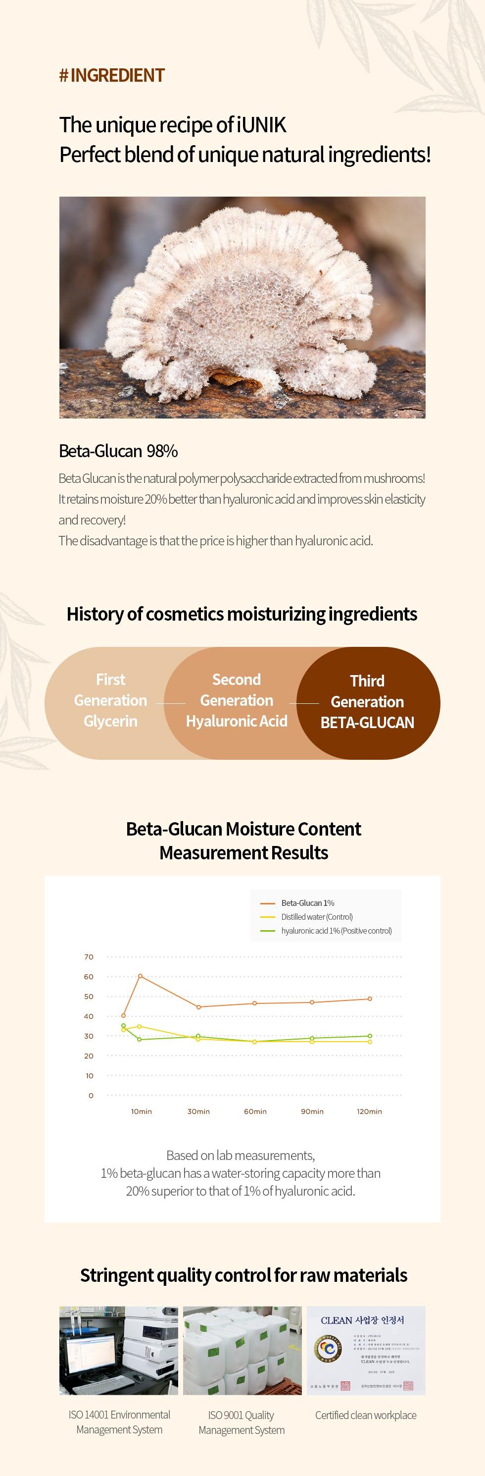 [MPLUS] iUNIK Beta Glucan Powder Moisture Serum 50ml