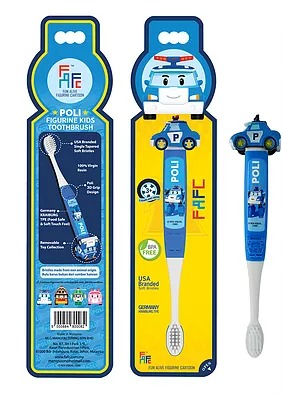 [MPLUS] Robocar Poli - Poli Figurine Kids Toothbrush