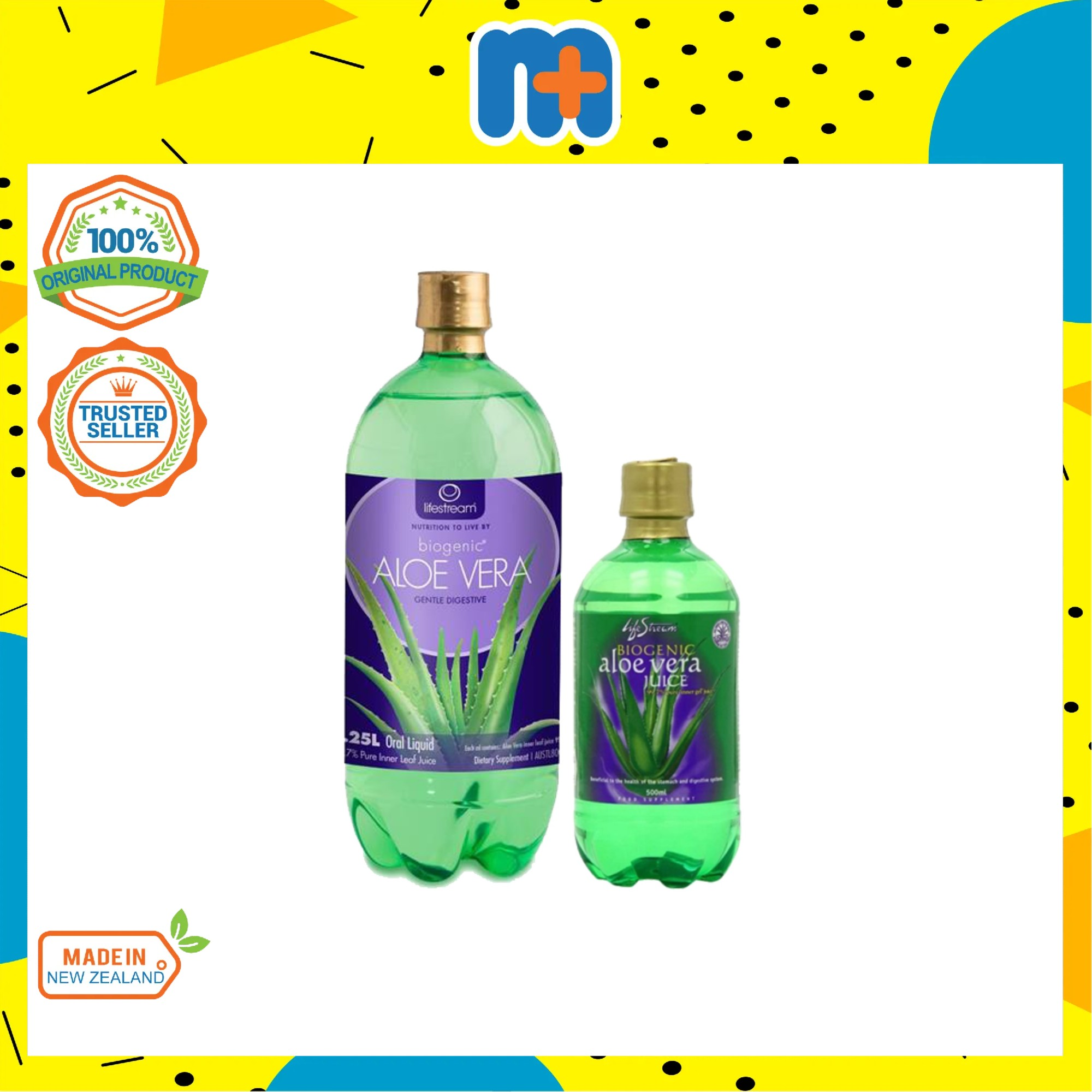 [MPLUS] LIFESTREAM Biogenic Aloe Vera Juice 1250ml PWP 500ml @ RM9.90