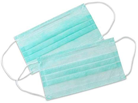 [MPLUS] Ready Stock! Waterproof! Fast Shipment! Face Mask 3 Ply (Blue/Green) Pack 50S