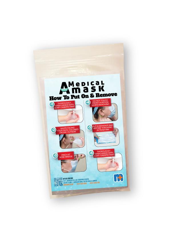 [MPLUS] Ready Stock Children'S Face Mask 3 Ply (Blue/Green) Pack 10S